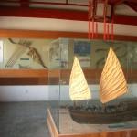 軍船模型と弓矢
