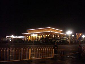 夜の毛主席紀念堂