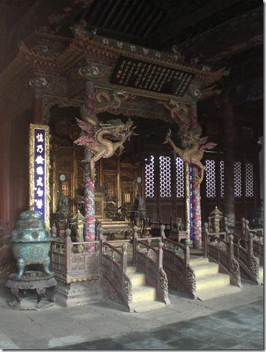 崇政殿宝座(玉座)(2008年9月撮影)