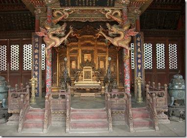 崇政殿宝座(玉座)(2004年4月撮影)