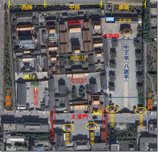 瀋陽故宮配置図