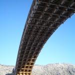 錦帯橋を下から覗く