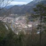津和野城出丸より市街を望む