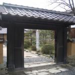 鷗外生家の門