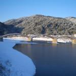 雪の朝の錦帯橋