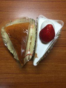 私のささやかな誕生日ケーキ